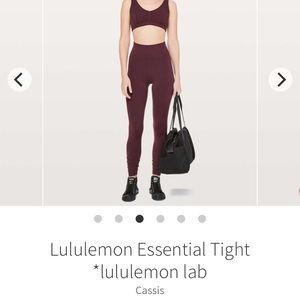 "Lululemon ""the lab"" essential tight size 4"